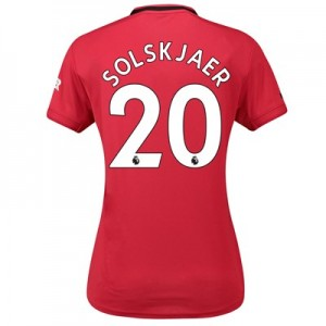 Manchester United Home Shirt 2019 - 20 - Womens with Solskjaer 20 printing