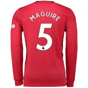 Manchester United Home Shirt 2019 – 20 – Long Sleeve with Maguire 5 printing