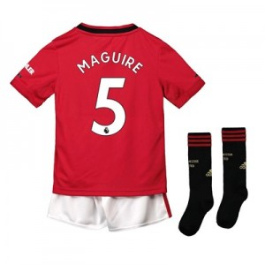 Manchester United Home Mini Kit 2019 - 20 with Maguire 5 printing