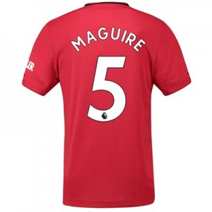 Manchester United Home Authentic Shirt 2019 - 20 with Maguire 5 printing