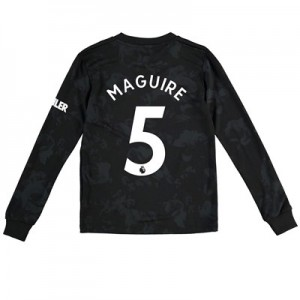 Manchester United Third Shirt 2019 – 20 – Kids – Long Sleeve with Maguire 5 printing