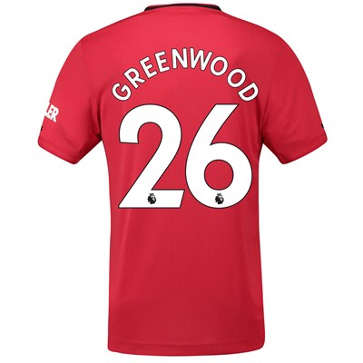 Manchester United Home Authentic Shirt 2019 - 20 with Greenwood 26 printing