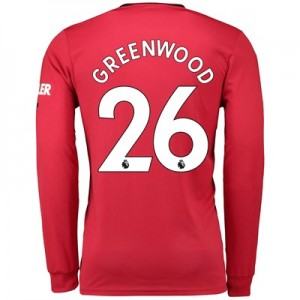 Manchester United Home Shirt 2019 – 20 – Long Sleeve with Greenwood 26 printing