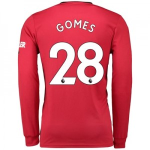Manchester United Home Shirt 2019 – 20 – Long Sleeve with Gomes 28 printing