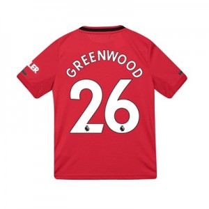 Manchester United Home Shirt 2019 – 20 – Kids with Greenwood 26 printing
