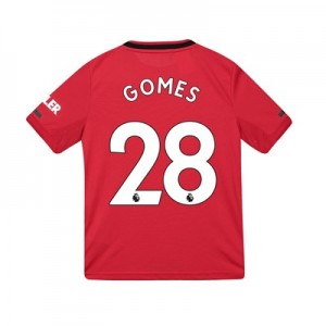 Manchester United Home Shirt 2019 – 20 – Kids with Gomes 28 printing