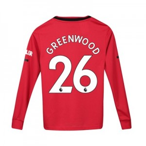 Manchester United Home Shirt 2019 - 20 - Kids - Long Sleeve with Greenwood 26 printing