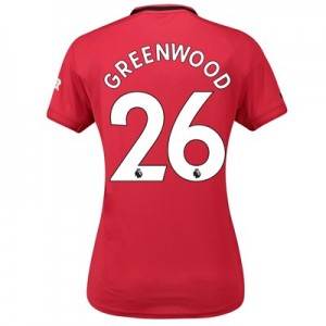 Manchester United Home Shirt 2019 – 20 – Womens with Greenwood 26 printing