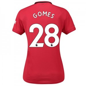 Manchester United Home Shirt 2019 – 20 – Womens with Gomes 28 printing