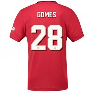 Manchester United Cup Home Shirt 2019 – 20 with Gomes 28 printing