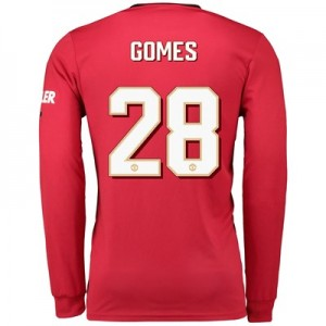 Manchester United Cup Home Shirt 2019 - 20 - Long Sleeve with Gomes 28 printing