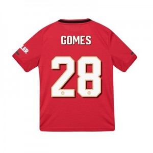 Manchester United Cup Home Shirt 2019 – 20 – Kids with Gomes 28 printing