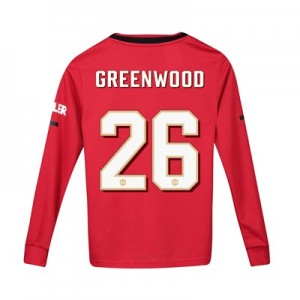 Manchester United Cup Home Shirt 2019 - 20 - Kids - Long Sleeve with Greenwood 26 printing