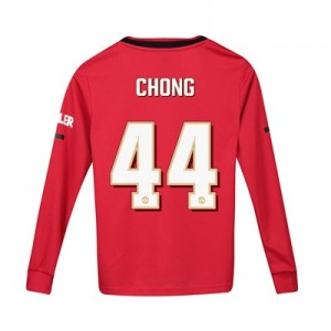 Manchester United Cup Home Shirt 2019 - 20 - Kids - Long Sleeve with Chong 44 printing