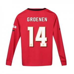 Manchester United Cup Home Shirt 2019 – 20 – Kids – Long Sleeve with Groenen 14 printing
