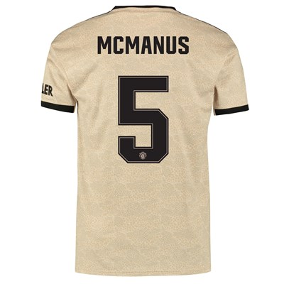 Manchester United Cup Away Shirt 2019 - 20 with McManus 5 printing