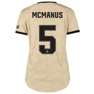 Manchester United Cup Away Shirt 2019 - 20 - Womens with McManus 5 printing