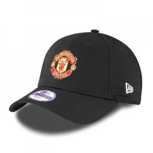 Manchester United New Era Basic 9FORTY Adjustable Cap – Black – Kids