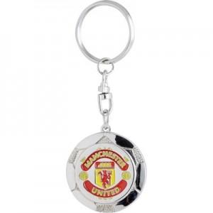 Manchester United Ball Keyring - Silver