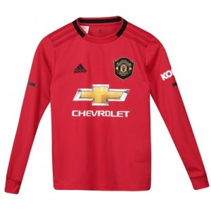 Manchester United Home Shirt 2019 - 20 - Kids - Long Sleeve