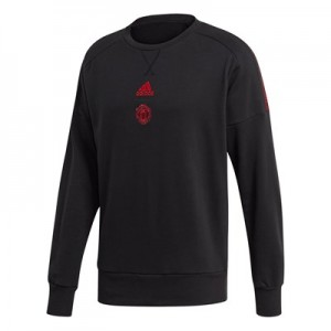 Manchester United Seasonal Crew Sweat - Black