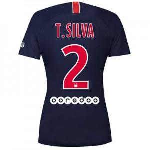 Paris Saint-Germain Home Stadium Shirt 2018-19 - Womens with Silva 2 printing