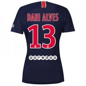 Paris Saint-Germain Home Stadium Shirt 2018-19 - Womens with Dani Alves 13 printing