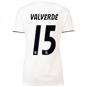 Real Madrid Home Shirt 2018-19 – Womens with Valverde 15 printing