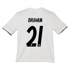 Real Madrid Home Shirt 2018-19 – Kids with Brahim 21 printing
