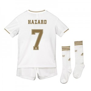 Real Madrid Home Kit 2019 - 20 - Kids with Hazard 7 printing