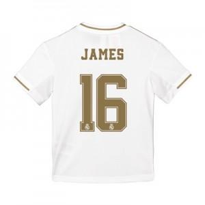 Real Madrid Home Shirt 2019-20 - Kids with James 16 printing