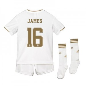 Real Madrid Home Kit 2019 - 20 - Kids with James 16 printing