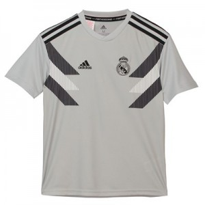 Real Madrid Pre Match Shirt – Grey – Kids
