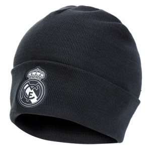 Real Madrid 3 Stripe Woolie Hat - Dark Grey