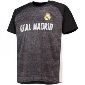 Real Madrid Panelled T-Shirt - Black/White - Mens