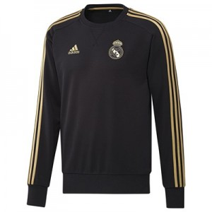Real Madrid Training Sweat Top – Black