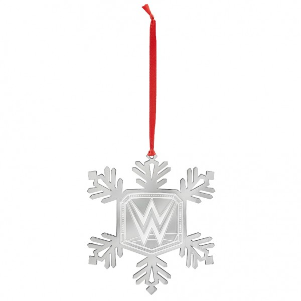 WWE Championship Snowflake Ornament