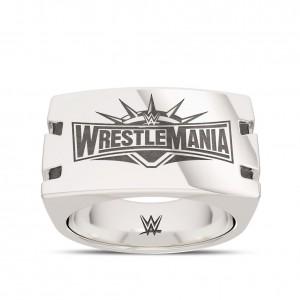 WrestleMania 35 Bixler Notched Ring in Sterling Silver