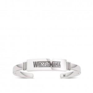 WrestleMania 35 Bixler Ribbed Cuff Bracelet in Sterling Silver