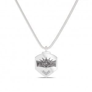 WrestleMania 35 Bixler Logo Pendant in Sterling Silver