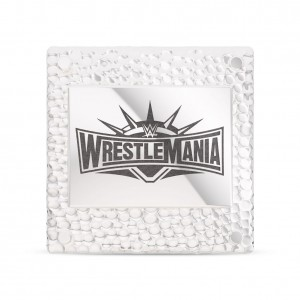 WrestleMania Bixler 35 Square Pin in Sterling Silver