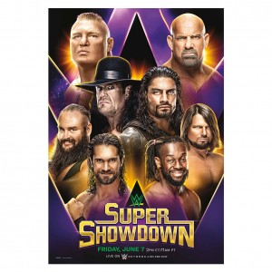 WWE Super Show Down 2019 Poster