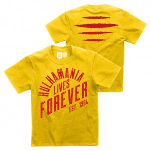 "Hulk Hogan ""Hulkamania Lives Forever"" Youth Authentic T-Shirt"