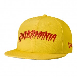 "Hulk Hogan ""Hulkamania"" New Era 59Fifty Yellow Fitted Hat"