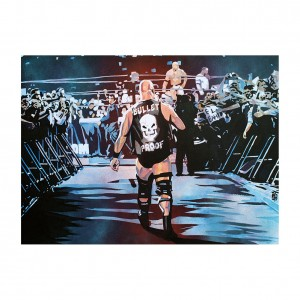 "Stone Cold Steve Austin ""Bullet Proof"" 11 x 14 Rob Schamberger Art Print"