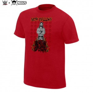 """Seth Rollins """"Burn it Down"""" Neon Collection Graphic T-Shirt"""