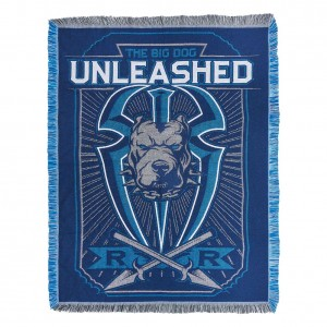 """Roman Reigns """"Big Dog Unleashed"""" Tapestry Blanket"""