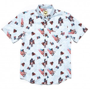 "Macho Man Randy Savage ""USA""  RSVLTS Button Down Shirt"
