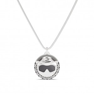 Macho Man Sunglasses Bixler Pendant in Sterling Silver