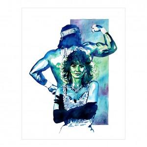 Macho Man & Miss Elizabeth 11 x 14 Rob Schamberger Art Print